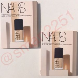 🔝4 for $15💛NARS 2Pc Sheer Glow Foundation NEW!